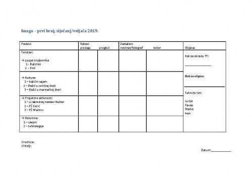 Školska redakcija_Imago_1.broj_Plan rada