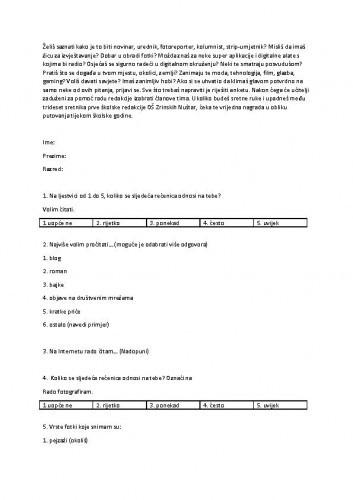 Školska redakcija_Prijedlog ankete za odabir sudionika